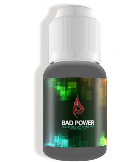 BAD POWER White Vein 10ml Liquid Kratom